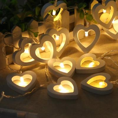 Wooden Heart LED Fairy Lights
